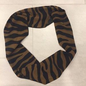 Tiger Print Dark Brown and Black Striped Belt